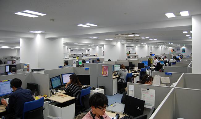 広々としたスペースを持つ宮崎のカスタマーセンター
