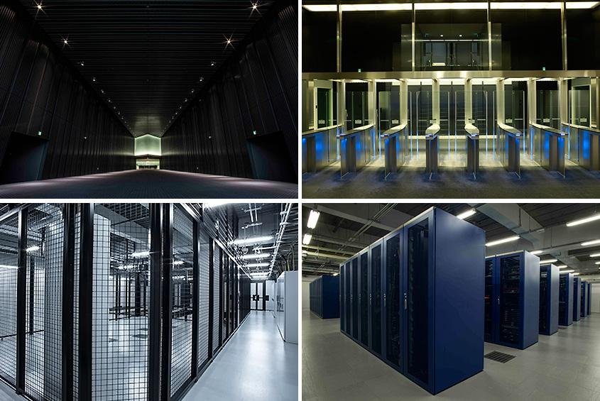 総床面積14万平方メートルを誇る中央センター(左上)、環境配慮型 中央第2センター(右上)、ケージングコロケーション(左下)、ハウジング(右下)の画像