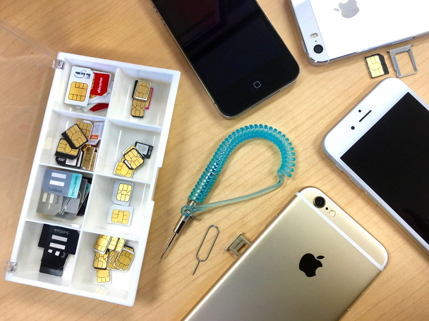 SIMと作業道具